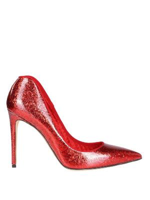 ALEXANDER MCQUEEN: scarpe décolleté - Sensuali pump glitterate a forma di cuore