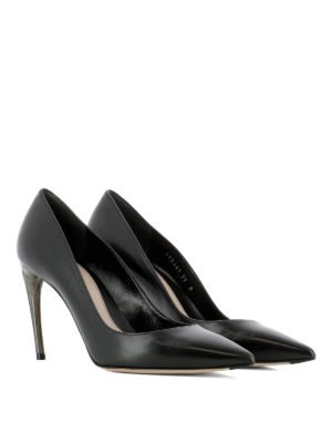 Alexander Mcqueen: court shoes online - Curved heel leather pumps