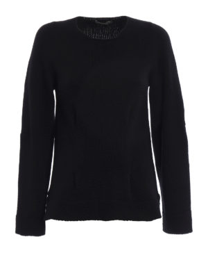 Alexander Mcqueen: crew necks - Cashmere pleat detail crewneck