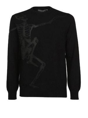 Alexander Mcqueen: crew necks - Dancing Skeleton cotton sweater
