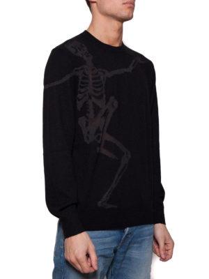 Alexander Mcqueen: crew necks online - Dancing Skeleton cotton sweater