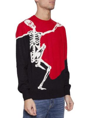 Alexander Mcqueen: crew necks online - Dancing Skeleton wool blend sweater