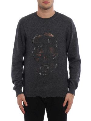 Alexander Mcqueen: crew necks online - Skull Punk piercing sweater