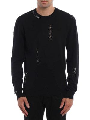 Alexander Mcqueen: crew necks online - Wool and cashmere crewneck