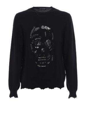 Alexander Mcqueen: crew necks - Skull Punk piercing sweater