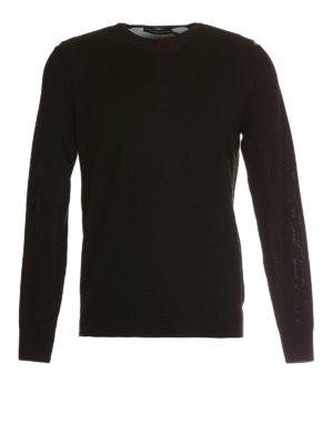 Alexander Mcqueen: crew necks - Wool studded  crewneck