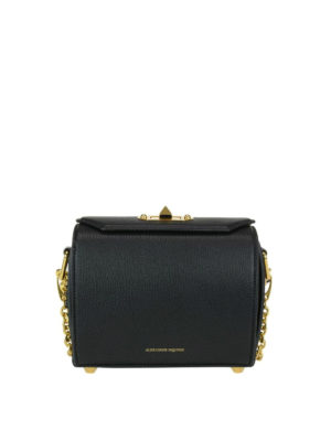 Alexander Mcqueen: cross body bags - Box 19 black leather bag