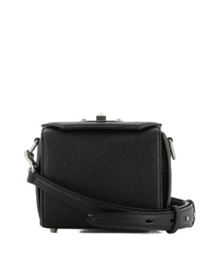 Alexander Mcqueen: cross body bags - Box Bag 16 black cross body bag