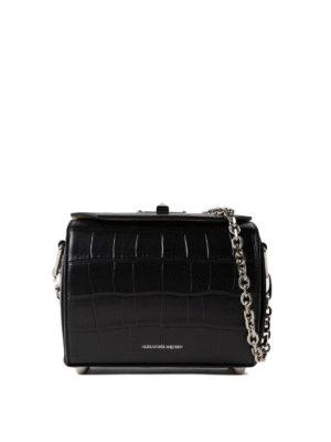 Alexander Mcqueen: cross body bags - Box Bag 19 black evening bag