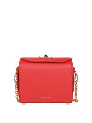 ALEXANDER MCQUEEN: borse a tracolla - Borsetta Box Bag 19 in pelle rossa