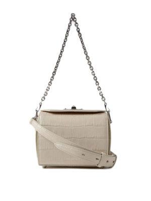 Alexander Mcqueen: cross body bags - Box Bag 19 white evening bag