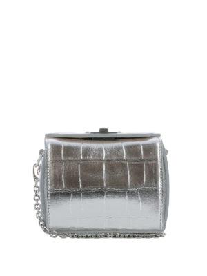 ALEXANDER MCQUEEN: borse a tracolla - Nano Box Bag in pelle stampa cocco