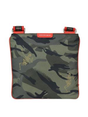 ALEXANDER MCQUEEN: borse a tracolla - Borsa Dancing Skeleton camouflage