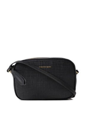 Alexander Mcqueen: cross body bags - Embossed leather small camera bag