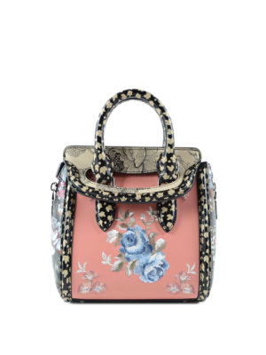 Alexander Mcqueen: cross body bags - Heroine embroidered mini bag