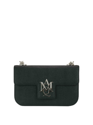 Alexander Mcqueen: cross body bags - Insignia chain detail leather bag