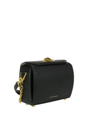 Alexander Mcqueen: cross body bags online - Box 19 black leather bag