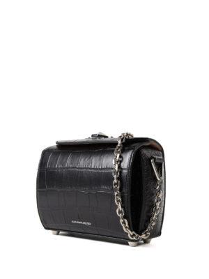 Alexander Mcqueen: cross body bags online - Box Bag 19 black evening bag