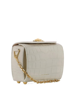 Alexander Mcqueen: cross body bags online - Box Bag 19 croco print bag