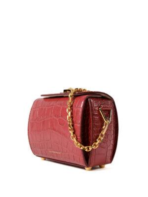 Alexander Mcqueen: cross body bags online - Box Bag 19 dark red evening bag