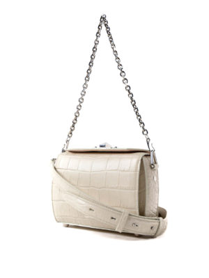 Alexander Mcqueen: cross body bags online - Box Bag 19 white evening bag