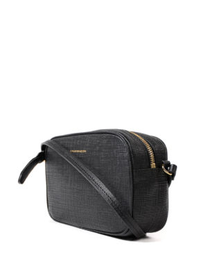 Alexander Mcqueen: cross body bags online - Embossed leather small camera bag