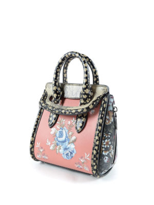Alexander Mcqueen: cross body bags online - Heroine embroidered mini bag