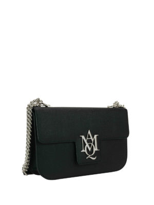 Alexander Mcqueen: cross body bags online - Insignia chain detail leather bag