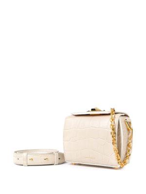 Alexander Mcqueen: cross body bags online - Leather Box Bag 16