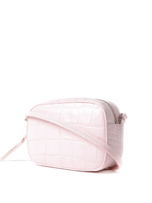 Alexander Mcqueen: cross body bags online - Pink croco print leather crossbody