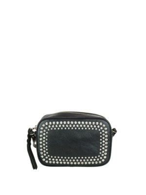 Alexander Mcqueen: cross body bags - Studded leather cross body bag