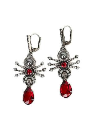 Alexander Mcqueen: Earrings - Embellished brass spider earrings