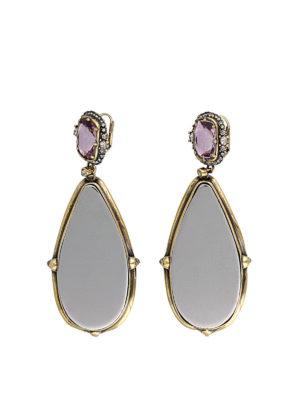 ALEXANDER MCQUEEN: Earrings - Frame pendant earrings with crystals