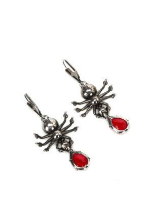 Alexander Mcqueen: Earrings online - Embellished brass spider earrings