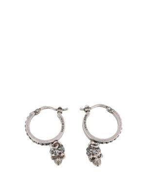 ALEXANDER MCQUEEN: Orecchini - Orecchini argento con Skull pendente