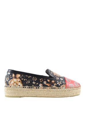 Alexander Mcqueen: espadrilles - Floral motif leather espadrilles