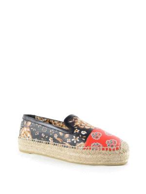 Alexander Mcqueen: espadrilles online - Floral motif leather espadrilles