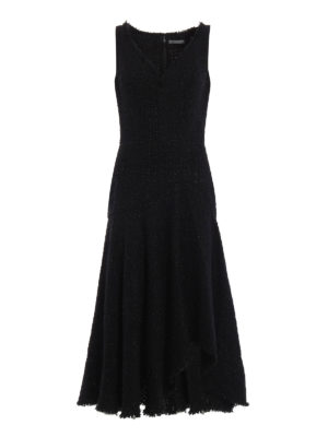 Alexander Mcqueen: evening dresses - Boucle tweed asymmetric dress