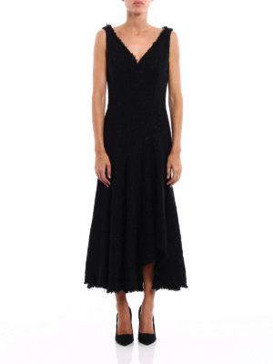 Alexander Mcqueen: evening dresses online - Boucle tweed asymmetric dress