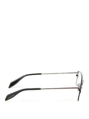 Alexander Mcqueen: glasses online - Black metal eyeglasses