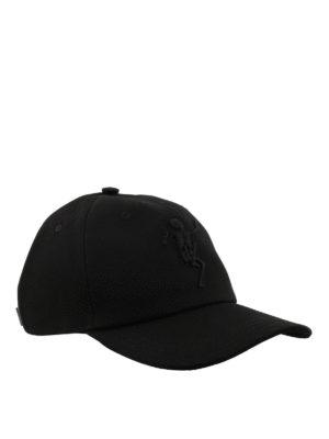 ALEXANDER MCQUEEN: cappelli - Cappellino Dancing Skeleton nero