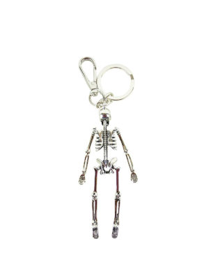 Alexander Mcqueen: key holders online - Skeleton silver key holder