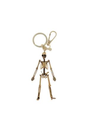 Alexander Mcqueen: key holders - Skeleton golden key holder