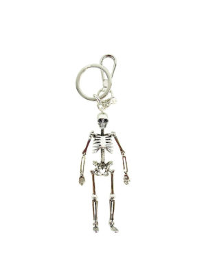 Alexander Mcqueen: key holders - Skeleton silver key holder