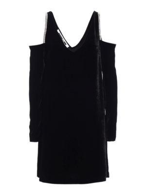 Alexander Mcqueen: knee length dresses - Embellished velvet dress