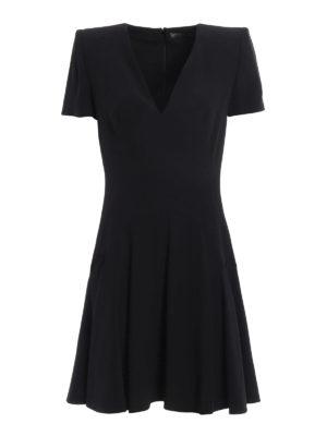 Alexander Mcqueen: knee length dresses - Flounced crepe dress