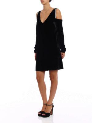 Alexander Mcqueen: knee length dresses online - Embellished velvet dress