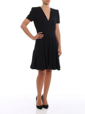 Alexander Mcqueen: knee length dresses online - Flounced crepe dress