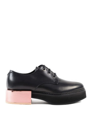 Alexander Mcqueen: lace-ups shoes - Metallic heel lace-up creepers