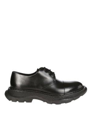 ALEXANDER MCQUEEN  scarpe stringate - Scarpe Derby in pelle liscia con maxi  suola 359e602ac2d